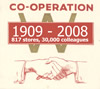 Cooperation 1909-2008 - inspired by an early company logo, dating from 1934